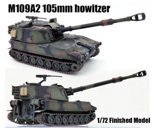 1:72 US M109A2 155mm Self-Propelled Howitzer Tank Finished Model Collection