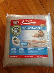 Sunbeam Full Size Beige Heated Blanket