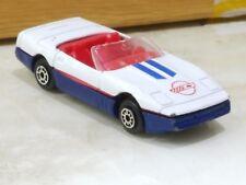 Vintage Chevrolet Corvette White & Blue Diecast 1/64 MC Toys 1980's 3 inch long