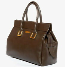 LA Fatima Brown Palmelato Italian Leather Tote Handbag/Office Bag/Oversize Bag/