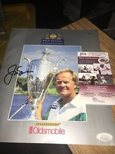 Jack Nicklaus  Signed 1992 PGA Senior Championship Program JSA