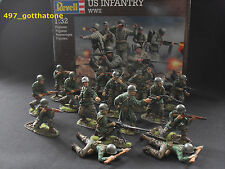 Matchbox/Revell/Airfix WW2 1/32 American infantry  54mm. pro painted.