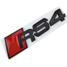 AUDI A4 Logo RS4 Noir Satin Emblème Autocollant Coffre Side Fender Rear Trunk