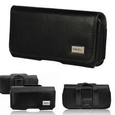 Gürtel Handy Tasche f Huawei P20 Lite Schutz Seiten Hülle Case Etui Quer Tasche