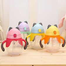 Baby Kids 250ml Non-Spill Straw Cup Sippy Cups Drink Bottle Toddler Training Cup