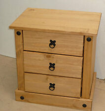 mercers furniture corona 3 drawer economy bedside cabinet mexican