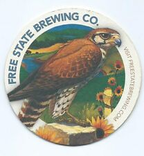 Free State Brewing Co. coaster 4 in dia. Not all wheat is destined for bread.