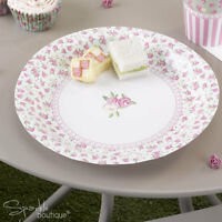 FRILLS & SPILLS PAPER PLATES-Floral Shabby Chic Tea/Hen Party-FULL RANGE IN SHOP