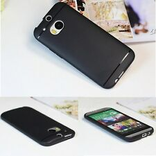 Black Anti-fingerprint Matte Back Soft TPU Silicone Cover Case For HTC One 2 M8