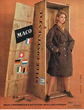 PUBLICITE ADVERTISING 034   1962   MACO  imperméables vetements de pluie