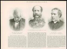 1890-antiguo retrato de impresión John Clayton Francis Seymour Rec Maclure (268 A)