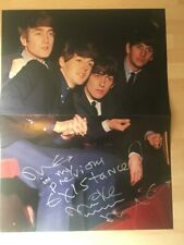 Beatles Paul McCartney Mike McGear Signed Autographed poster Very Rare