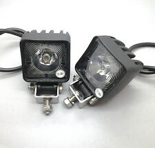 2 X MONARK MINI LED ARBEITSSCHEINWERFER 12 & 24V WORK LAMP FOR TRUCK TRAILER ATV