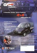 Gaz Gazella 4x4 1998 catalogue brochure camion truck lkw Sobol