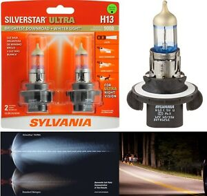 Sylvania Silverstar Ultra 9008 H13 65/55W Two Bulbs Head Light High Low Upgrade