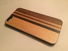 Apple Iphone 6 plus cover case hard back real sandal wood wooden solid oak brown
