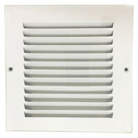 "ZORO SELECT 4MJN2 6"" x 6"" Return Air Grille, White"