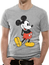 Mickey Mouse Kick Official Disney Mickey & Minnie Heather Grey Men T-shirt