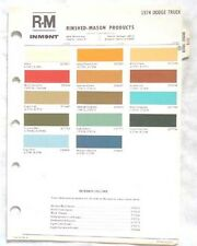 1974  DODGE TRUCK R-M COLOR PAINT CHIP CHART MOPAR ORIGINAL