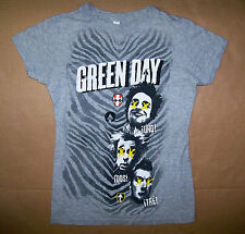GREEN DAY / 2012 UNO DOS TRE / PUNK ROCK POP / LADIES GRAY T-SHIRT SIZE S