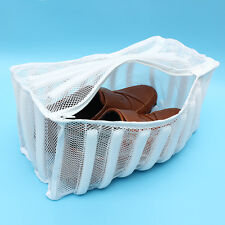 New Laundry Footwear Sneaker Washer Dryer White Mesh Wash Bag Shoes Clothes