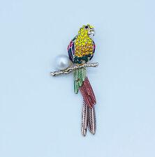 Noble Jewel Stunning Genuine Freshwater Pearl Setting Parrot Brooch / Pendant