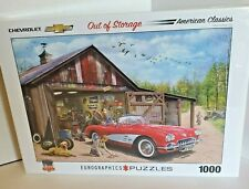 Rare 1959 Corvette Out Of Storage 1000 Piece Puzzle Chevrolet Eurographics NEW