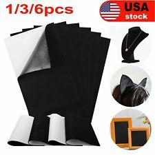 1/3/6 Pcs Black Self Adhesive Back Felt Sheets Fabric Sticky Art Craft Making US