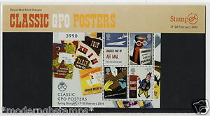 2016 STAMPEX LIMITED ED Classic GPO Posters 'Stampex Overprint' Mini Sheet + PHQ