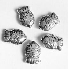 925 Sterlling Silver Fish Spacer Tube Bead Charm 16mm