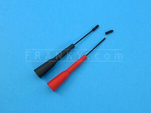 ETA3201 Slip-On Sharp 1mm Probe Tips for Multimeter Probes (1 Pair Red + Black)