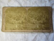 1889 COLOGNE GERMANY Market Place Stereoview Card - J F Jarvis & Underwood