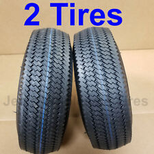 TWO 4.10/3.50-4 TIREs 410-4 4.10-4 4.10x4 410x4 410/350-4 Deeston Sawtooth 4ply