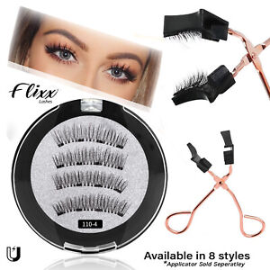 Professional Magnetic Eyelashes - Fake False Lashes Set Kit + Applicator Option