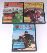 """PC SPIELE """" PFERD & PONY (Mein Gestüt + Mein eigenes Pferd + Lass  uns Reiten)"""