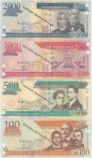 Dominican Republic Banknote specimen Set 2010, 100-500- 1000-2000, UNC