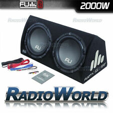 "FU12 FLI 12"" Twin Active Sub Subwoofer & Amp Amplifier in Box Enclosure 2000w"
