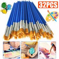 32pcs Artist Paint Brushes Set Acrylic Oil Watercolour Painting Craft Art Kit