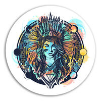 2 x 10cm Native American Vinyl Stickers - Tribal Sticker Laptop Luggage #18377