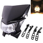 Black Streetfighter Street fighter Motorcycle Bike Headlight Head Light Lamp