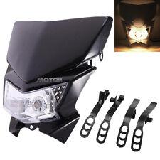 Black Streetfighter Headlight Fairing Fit Kawasaki KLX KDX KLR 110 125 140 450
