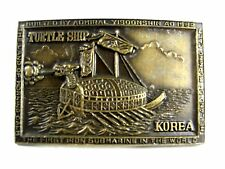 Turtle Ship First Submarine in The World 1592 Korea Belt Buckle 62714