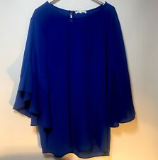 PLEIONE BLOUSE NEW WITH TAGS LARGE BLUE