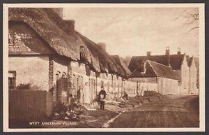Postcard West Amesbury Village on Salisbury Plain Wiltshire early view