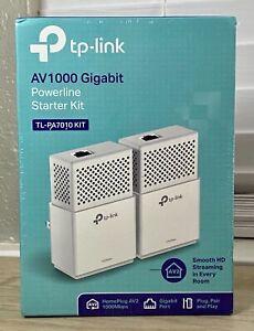 TP-Link TL-PA7010 KIT AV1000 Gigabit Ethernet 1000Mbps Powerline Starter Kit NEW