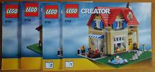 LEGO 6754 recette Only instruction aucune pierres Creator maison familiale