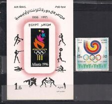 EGYPT - 3 DIFFERENT OLYMPIC GAMES - SS + STAMPS - M.N.H.