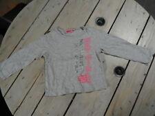 T-shirt manches longues gris chiné imprimé rose et argenté NKY Taille 4 ans
