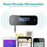 3.5mm Musik FM Transmitter Sender UKW Handy Wireless Auto Radio Audio Adapter DE