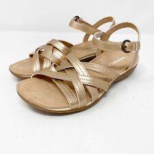 NEW $85 Merrell Rose Gold ALEXA Lattice Leather Sandals US 6 M Pink Metallic